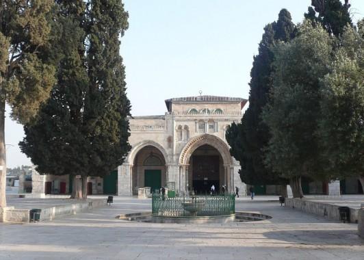 Главный северный фасад мечети Эль-Акса.