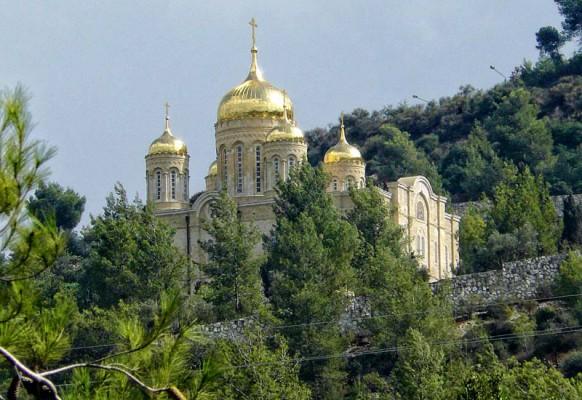 Новый православный собор в Горнем монастыре.
