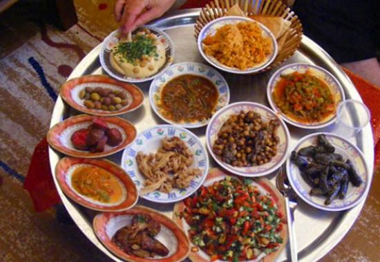 Бедуинская традиционная еда.