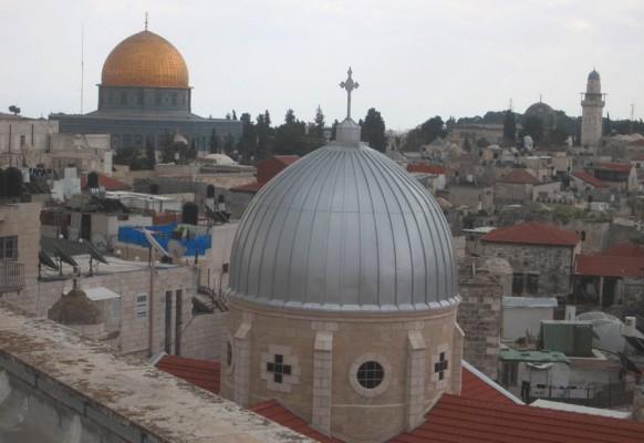 Вид старого города в Иерусалиме