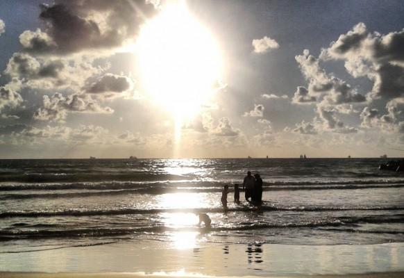Закат. Средиземное море