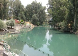 Место крещения на реке Иордан