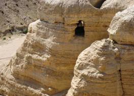 Кумранские пещеры, где были найдены свитки Мертвого моря