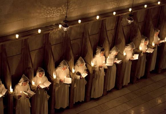 Служба в женском монастыре в Бейт-Джамаль.