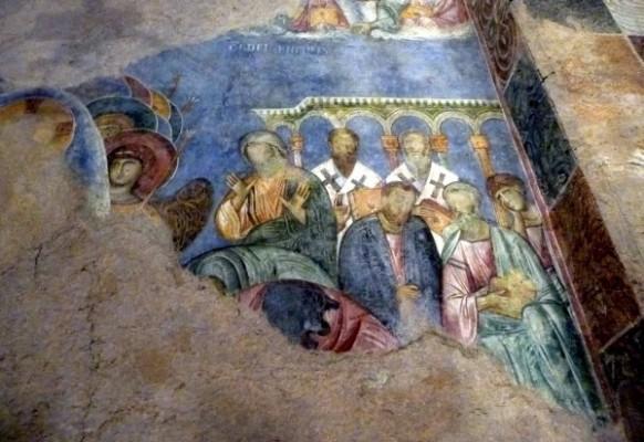 Монастырь бенедектинцев в Абу-Гош. Средневековые фрески.