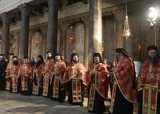 Рождественская служба в Храме Рождества.