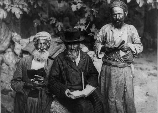 Иерусалимские евреи 150 лет назад.