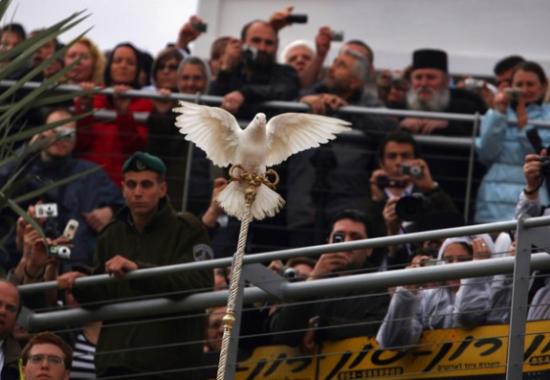 Белый голубь – символ Святого Духа.