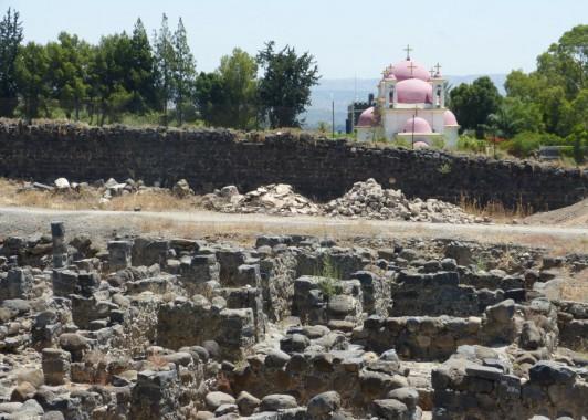 Капернаум. Раскопки и церковь Петра и Павла