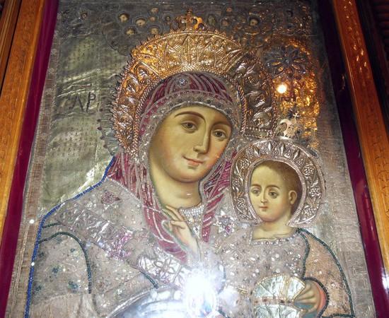 Икона Вифлеемской Божьей Матери. Хранится в храме Рождества