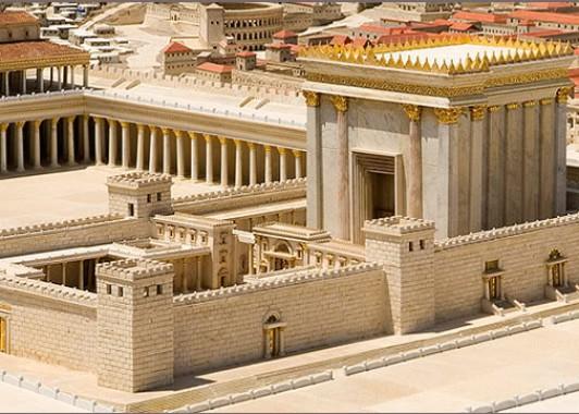Макет Второго еврейского Храма. Строился 80 лет и был разрушен римлянами в 70 г.новой эры.
