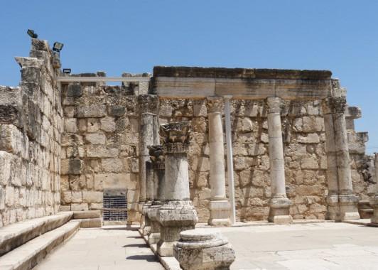 Капернаум. Интерьер синагоги