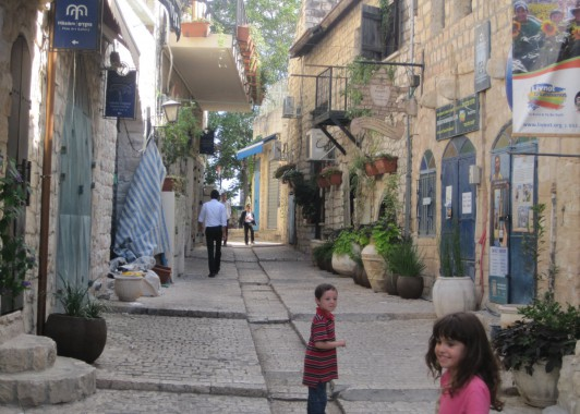 Цфат. Улица еврейского квартала.