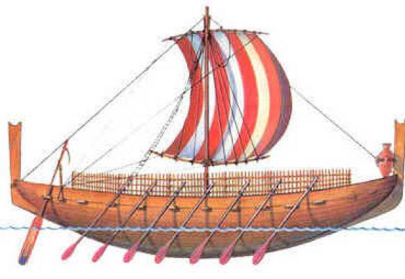 Финикийцы строили торговые корабли из ливанского кедра.