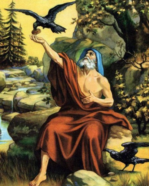 Вороны кормят Илью-пророка на горе Кармель