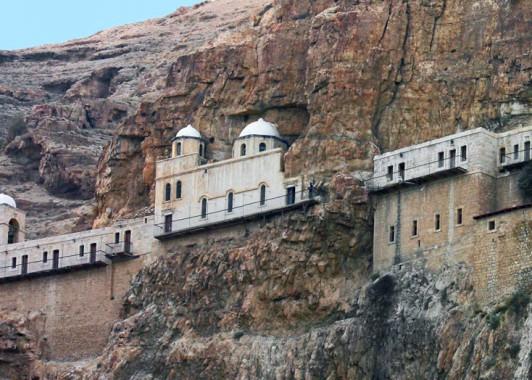 Греческий православный монастырь на горе Искушения.