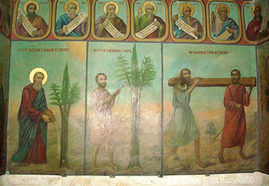 История триединого дерева – картины-иконы монастыря Креста.