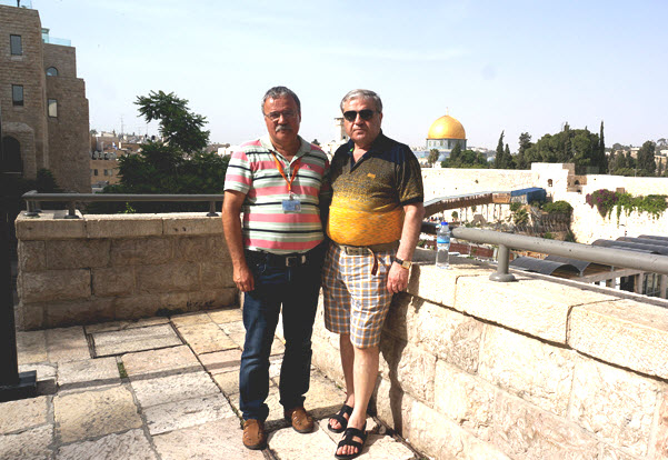 Peter with tourists in Jerusalem